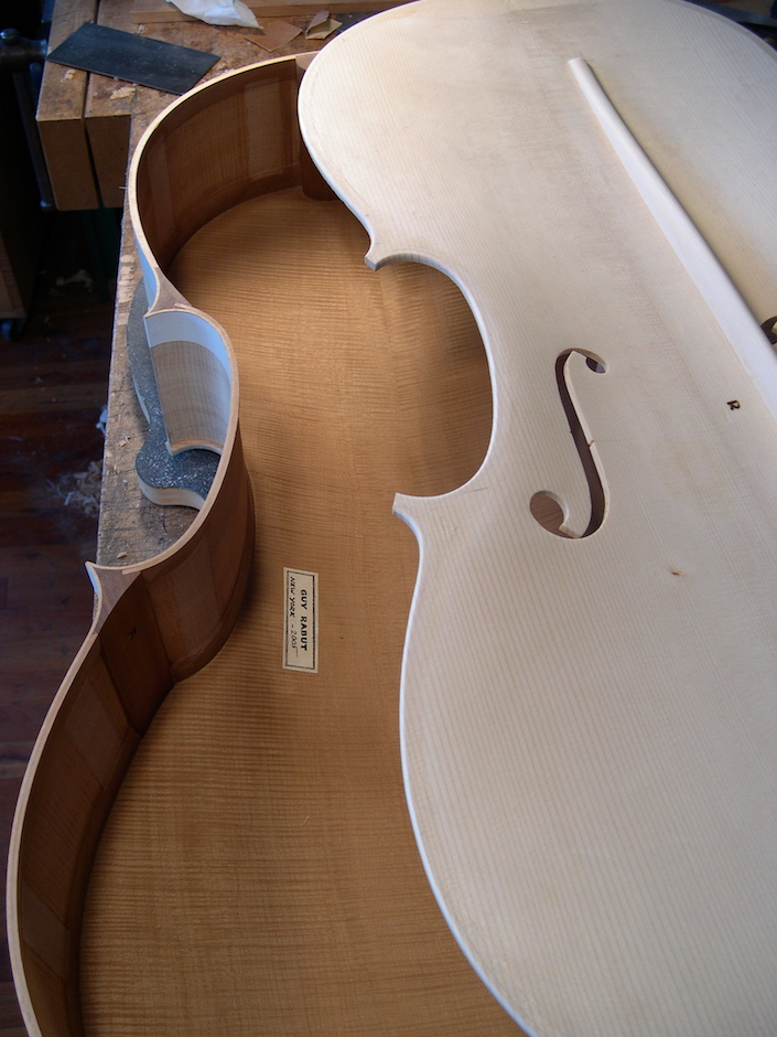 This cello is ready to glue together with the makers glued to the back