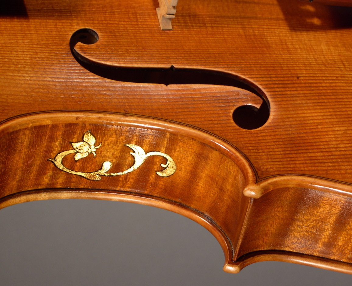Detail of a finished viola